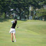 Gentle fade golf shot