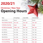Christmas Opening Hours World of Golf London